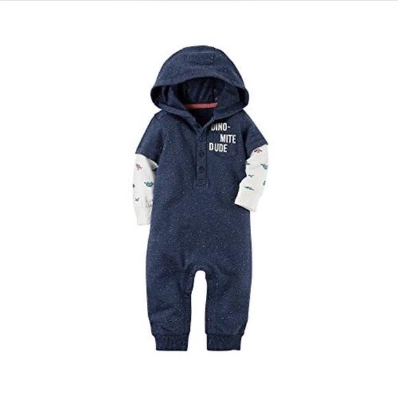 948893e2c18 Baby boy size 6 Months dinosaur hooded jumpsuit 🦕